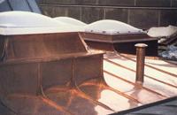 Dach, kupferdach, Aluminiumdach, Reparaturen,